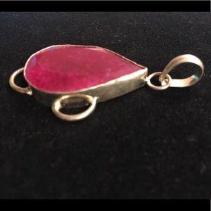 Beautiful Bright Pink Stone Pendant